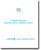 Rapport financier de l'UNICEF France 2016