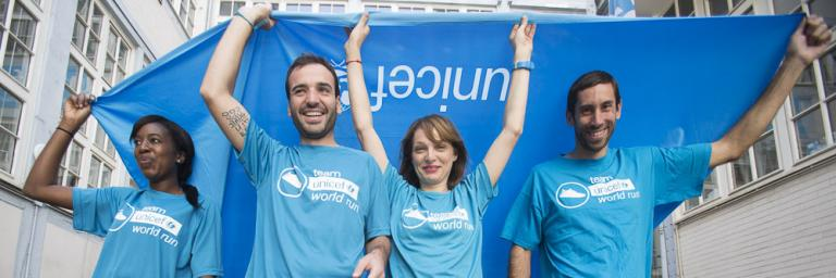 L'UNICEF France organise la Team UNICEF World Run