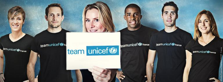 Les sportifs de la Team UNICEF se mobilisent en relayant les messages de l'UNICEF France et en collectant des fonds au profit des campagnes que l'UNICEF mènera autour de ses thématiques prioritaires.