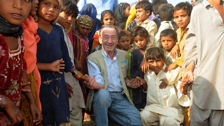 Jacques Hintzy, lors d'une mission au Pakistan en 2010.
