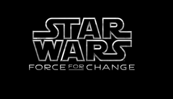 Logo de l'opération Force For Change, Star Wars, Disney.
